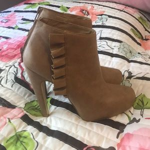 JustFab Tan Booties